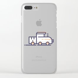 Train Lineart Icon Clear iPhone Case