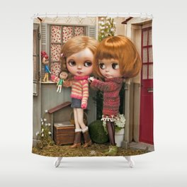Erregiro Blythe Custom Doll Play Garden Shower Curtain