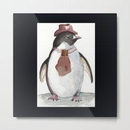 Sarcatic penguin Metal Print