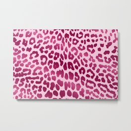Leopard (Pink) Metal Print