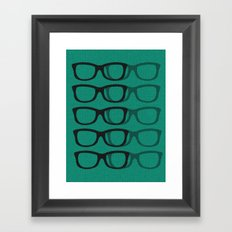 Glasses Green-Blue Framed Art Print