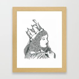 Alice in wonderland-Queen of hearts Framed Art Print