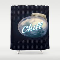 chill Shower Curtains featuring Chill by Isaak_Rodriguez