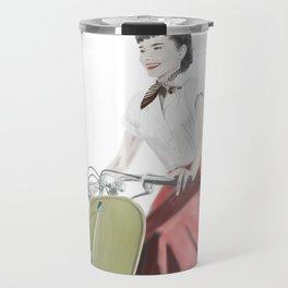 Audrey ride on Vespa Travel Mug