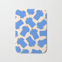 Shopping Blue Poloshirts Bath Mat