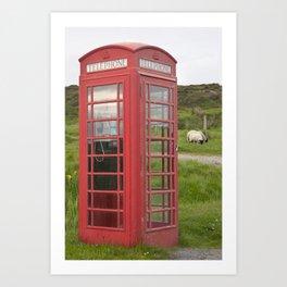Phone box on the Isle of Skye Art Print