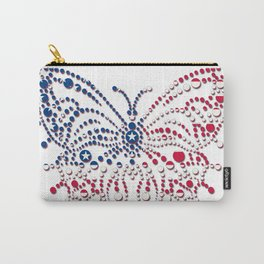 American Patriotic Colors Butterfly  Carry-All Pouch