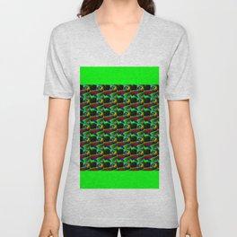 Zig zag pattern Unisex V-Neck