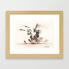 Playing Games Framed Art Print