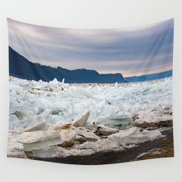 Blue Ice Wall Tapestry