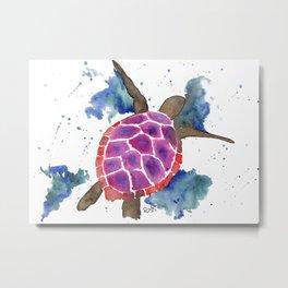 Abstract Sea Turtle Metal Print
