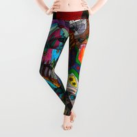 patrick Leggings featuring Every thought can change the day when let out in joyful play by Donuts