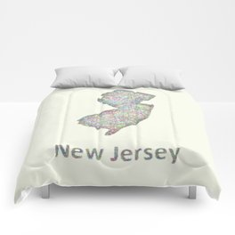 New Jersey map Comforters