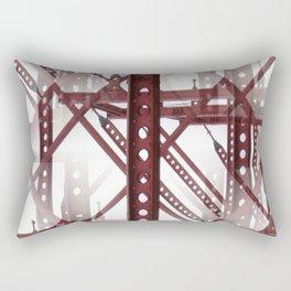 Red Steel Construction Rectangular Pillow