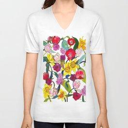 Tulips & Daffodils  Unisex V-Neck