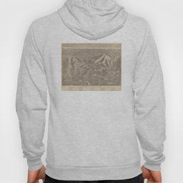 Vintage Map of The White Mountains (1890) Hoody