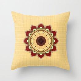 Yule Mandala Throw Pillow