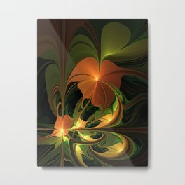 Fantasy Plant, Abstract Fractal Art Metal Print