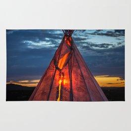 Southwestern Teepee Sunset Rug
