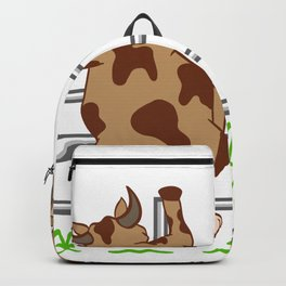 """Farm Top For Farmers Who Loves Farming """"Cow"""" T-shirt Design Cook Chef Cage Grass Milk Agriculture Backpack"""