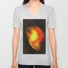 Concept abstract : Hot Fingerprint Unisex V-Neck
