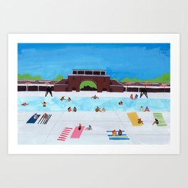 McCarren Pool Art Print