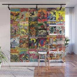 Comic Book Collage II Wall Mural