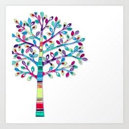 Striped Tree Art Print