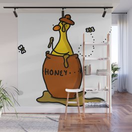 Duck Sweet as Honey | Veronica Nagorny Wall Mural