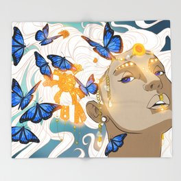 Butterflies Amazon Throw Blanket