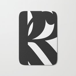 Hidden Letters. Baskerville R Bath Mat