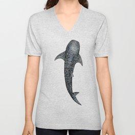 Whale shark for divers, shark lovers and fishermen Unisex V-Neck