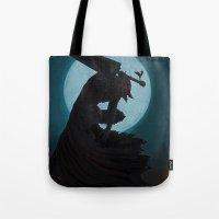 berserk Tote Bags featuring Berserk Armor by Yvan Quinet