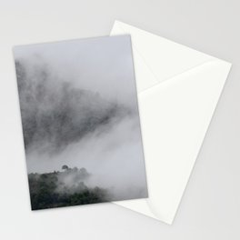 Foggy mountains. Mystery woods. Stationery Cards