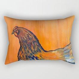 Orange Chicken Rectangular Pillow