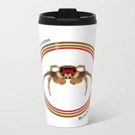Black & Red Jumper Metal Travel Mug