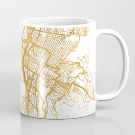MEDELLÍN COLOMBIA CITY STREET MAP ART Coffee Mug