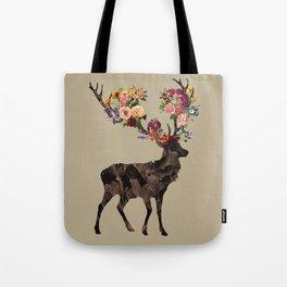 Spring Itself Deer Flower Floral Tshirt Floral Print Gift Tote Bag