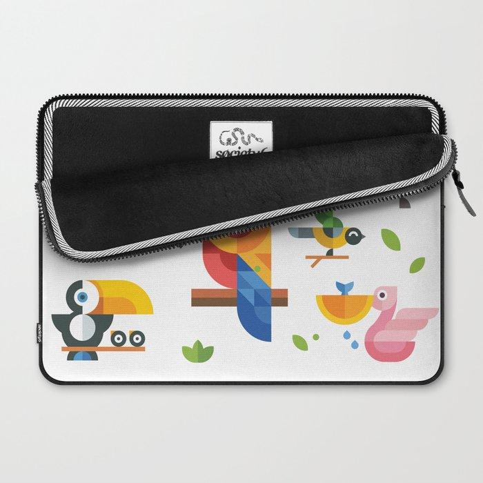 Birds in geometry Laptop Sleeve