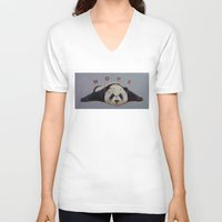 nope V-neck T-shirts featuring Nope by Michael Creese