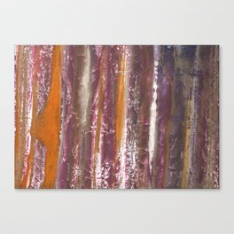 Abstract striped painted Canvas Print