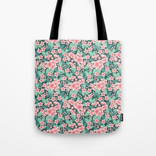 Cherry Blossom spring summer boho floral flower gardening nature botanical nature flowers florals Tote Bag