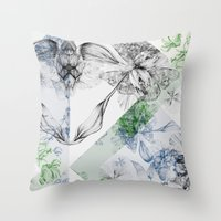 serenity Throw Pillows featuring Serenity by La Scarlatte