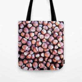Pattern Of Hazel Or Filbert Nuts Of Brown Color Tote Bag