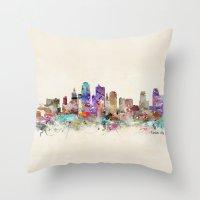 kansas city Throw Pillows featuring kansas city missouri by bri.buckley
