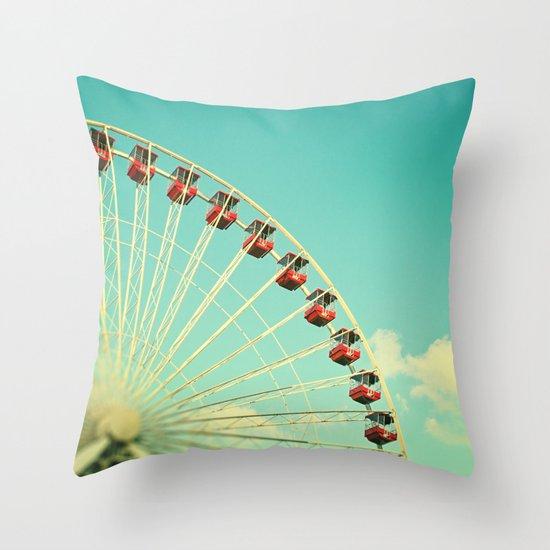Summer at Navy Pier Throw Pillow