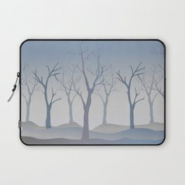 Silhouettes of Trees. Bad Weather Day Laptop Sleeve