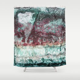 Beach Vibe in Pink Shower Curtain