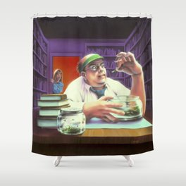 The Girl Who Cried Monster Shower Curtain