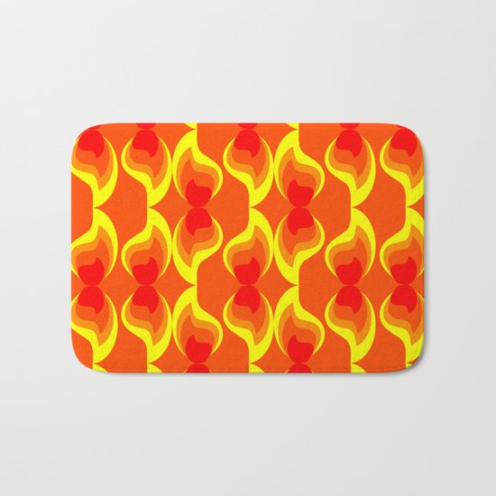 Flames Bath Mat